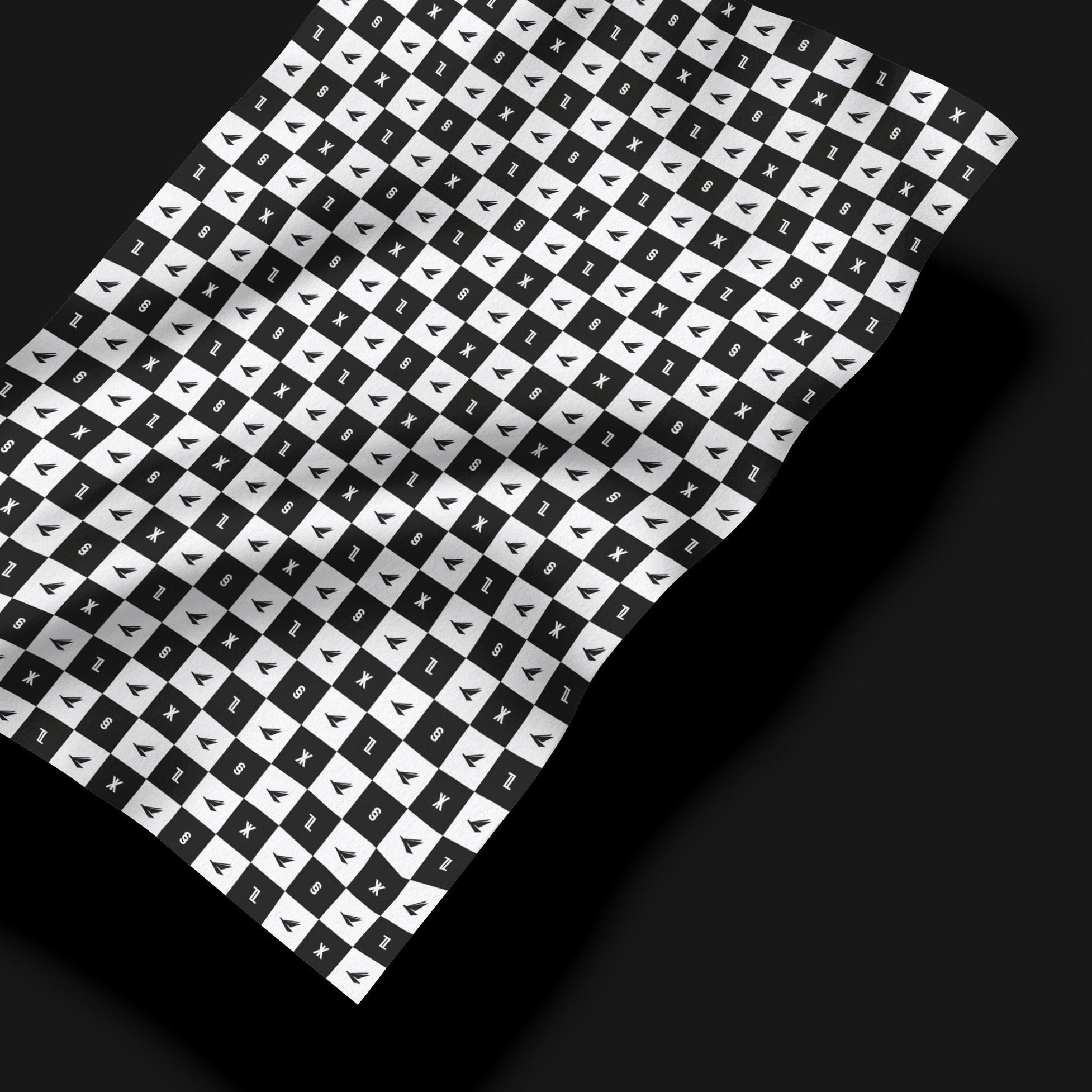 LYS_flowy pattern_chess_square